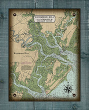 Load image into Gallery viewer, Richmond Hill Nautical Chart - On 100% Natural Linen