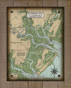 Richmond Hill Nautical Chart - On 100% Natural Linen