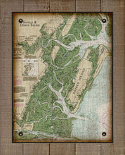 Load image into Gallery viewer, Sapelo Island Nautical Chart - On 100% Natural Linen