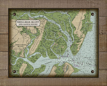 Load image into Gallery viewer, Shellman Bluff And Sapelo Sound Nautical Chart - On 100% Natural Linen