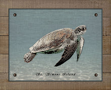 Load image into Gallery viewer, St Simons Sea Turtle - On 100% Natural Linen