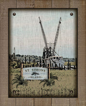 Load image into Gallery viewer, St Simons Shrimp Boat - On 100% Natural Linen