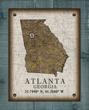 Load image into Gallery viewer, Atlanta Georgia Vintage Design On 100% Natural Linen