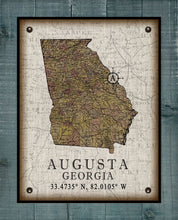 Load image into Gallery viewer, Augusta Georgia Vintage Design On 100% Natural Linen