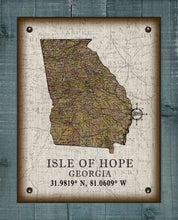 Load image into Gallery viewer, Isle Of Hope Georgia Vintage Design (2) On 100% Natural Linen