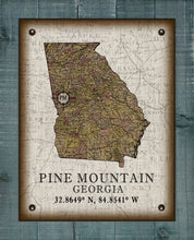 Load image into Gallery viewer, Pine Mountain Georgia Vintage Design On 100% Natural Linen