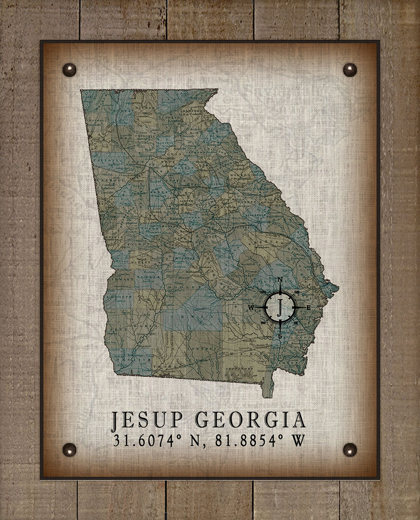 Jesup Georgia Vintage Design On 100% Natural Linen