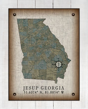 Load image into Gallery viewer, Jesup Georgia Vintage Design On 100% Natural Linen