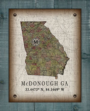 Load image into Gallery viewer, McDonough Georgia Vintage Design On 100% Natural Linen