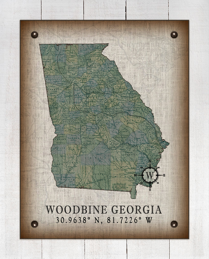 Woodbine Georgia Vintage Design On 100% Natural Linen