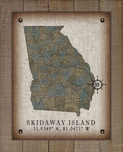 Load image into Gallery viewer, Skidaway Island Georgia Vintage Design (2) On 100% Natural Linen