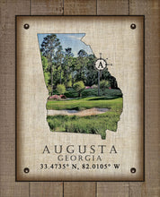 Load image into Gallery viewer, Augusta Georgia Vintage Design (Golf Course) On 100% Natural Linen