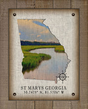 Load image into Gallery viewer, St Marys Georgia Vintage Design (Marsh) On 100% Natural Linen