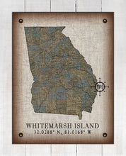 Load image into Gallery viewer, Whitemarsh Island Georgia Vintage Design On 100% Natural Linen