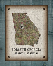 Load image into Gallery viewer, Forsyth Georgia Vintage Design On 100% Natural Linen