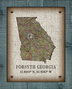 Forsyth Georgia Vintage Design On 100% Natural Linen