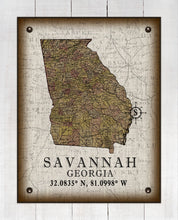 Load image into Gallery viewer, Savannah Georgia Vintage Design  On 100% Natural Linen