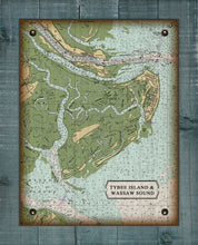 Load image into Gallery viewer, Tybee Island Nautical Chart - On 100% Natural Linen