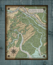 Load image into Gallery viewer, Wilmington, Whitemarsh And Dutch Island Nautical Chart - On 100% Natural Linen