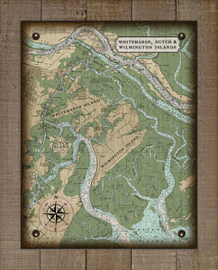 Wilmington, Whitemarsh And Dutch Island Nautical Chart - On 100% Natural Linen