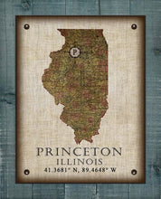 Load image into Gallery viewer, Princeton Illinois Vintage Design - On 100% Natural Linen