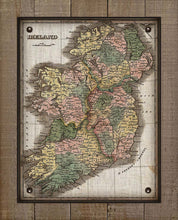Load image into Gallery viewer, 1800s Ireland Map - On 100% Natural Linen