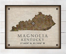 Load image into Gallery viewer, Magnolia Kentucky Vintage Design - On 100% Natural Linen