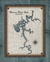 Load image into Gallery viewer, Barren River Lake Map Design - On 100% Natural Linen