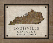 Load image into Gallery viewer, Louisville Kentucky Vintage Design - On 100% Natural Linen