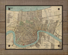 Load image into Gallery viewer, 1919 New Orleans Map - On 100% Natural Linen