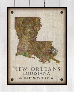 -Any State & Town In The U.S.A. - On 100% Natural Linen