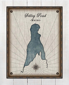 Sibley Pond Maine - On 100% Natural Linen