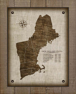 New England Vintage Design - On 100% Natural Linen