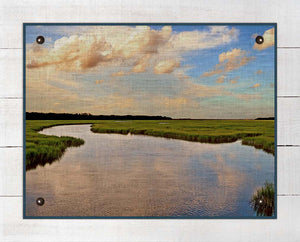 Marsh And Sky 1 - On 100% Natural Linen