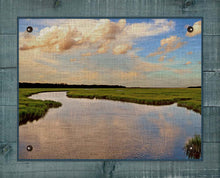 Load image into Gallery viewer, Marsh And Sky 1 - On 100% Natural Linen