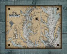 Load image into Gallery viewer, Chesapeake Bay Nautical Chart On 100% Natural Linen