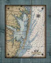 Load image into Gallery viewer, Maryland Ocean City Inlet And Bay Nautical Chart - On 100% Natural Linen