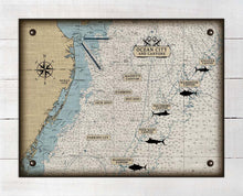 Load image into Gallery viewer, Maryland Ocean City And Canyons Nautical Chart - On 100% Natural Linen