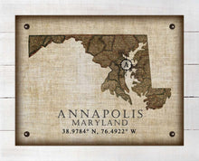 Load image into Gallery viewer, Annapolis Maryland Vintage Design On 100% Natural Linen
