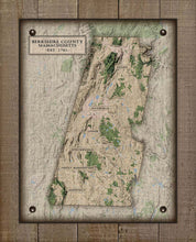 Load image into Gallery viewer, Berkshire County Massachusettes Nautical Chart - On 100% Natural Linen