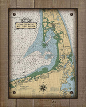 Load image into Gallery viewer, Wellfleet Cape Cod Ma. Nautical Chart On 100% Natural Linen