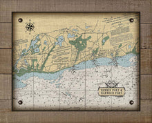 Load image into Gallery viewer, Dennis & Harwich Cape Cod  Nautical Chart On 100% Natural Linen