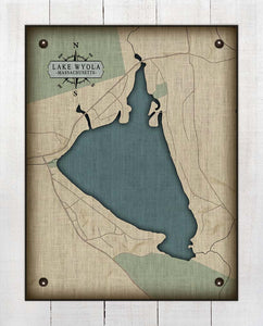Lake Wyola Massachusetts - On 100% Natural Linen