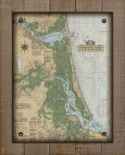 Load image into Gallery viewer, Newburyport Harbor & Plum Island Massachusetts Nautical Chart On 100% Natural Linen
