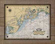 Load image into Gallery viewer, Centerville Harbor to Waquoit Bay Massachusetts Nautical Chart On 100% Natural Linen