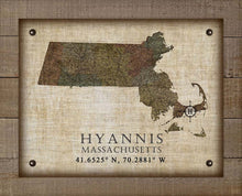 Load image into Gallery viewer, Hyannis Massachusetts Vintage Design - On 100% Natural Linen