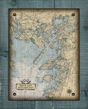 Load image into Gallery viewer, Upper Buzzard Bay Massachusettes Nautical Chart On 100% Natural Linen