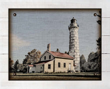 Load image into Gallery viewer, Cana Island Lighthouse - On 100% Linen