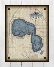 Load image into Gallery viewer, Higgins Lake Michigan Map - On 100% Natural Linen