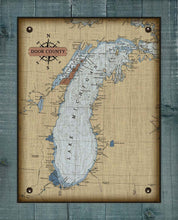 Load image into Gallery viewer, Door County Lake Michigan Map - On 100% Natural Linen